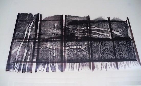 Grösse: 70 x 50 cm mit Rahmen 100 x 70 cm Original Holzdruck auf Seidenpapier