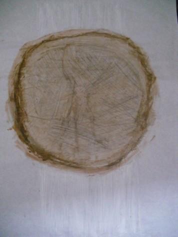 Grösse: 50 x 70 cm Rahmen 70 x 100 cm Acryl, Grafit, Kohle auf Seidenpapier