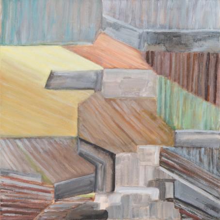 Weinberg 1 / 2018 Grösse: 40 cm x 40 cm Acrylfarbe auf WAF Leinwand